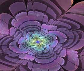 Abstract fractal flower Stock Photo 04