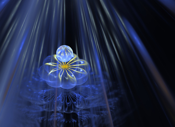 Abstract fractal flower Stock Photo 06