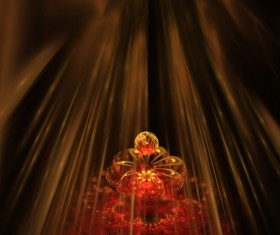 Abstract fractal flower Stock Photo 07