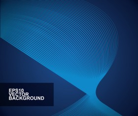Abstract lines with blue background vector 02