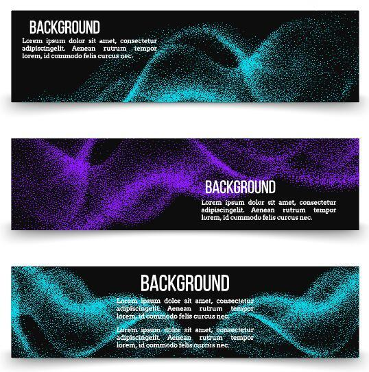 Abstract particles banner vector