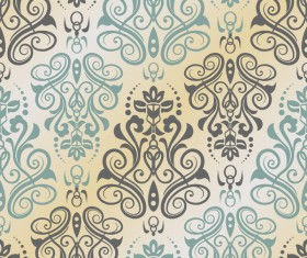 Abstract seamless pattern with ornament damask vector