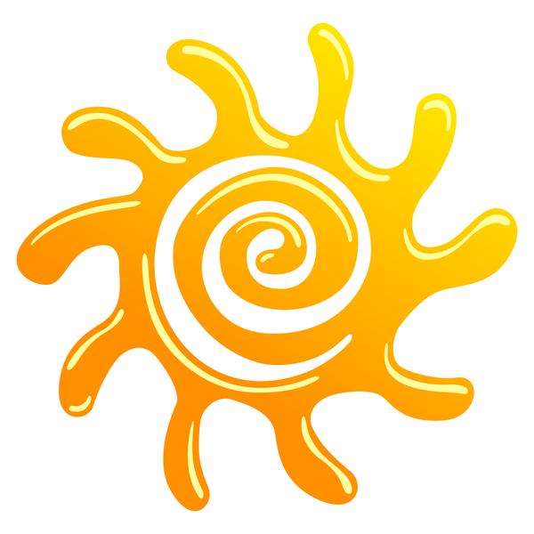 Abstract sun sign vector matrial 01