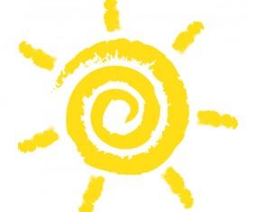 Abstract sun sign vector matrial 02