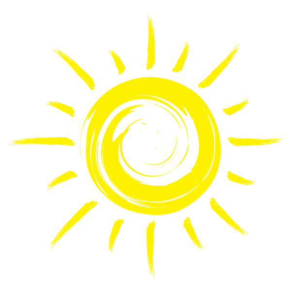 Abstract sun sign vector matrial 03