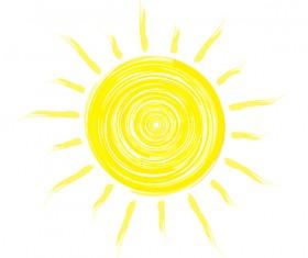 Abstract sun sign vector matrial 04