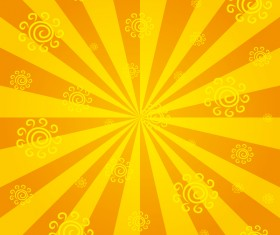 Abstract sunlight with sun sign background vector