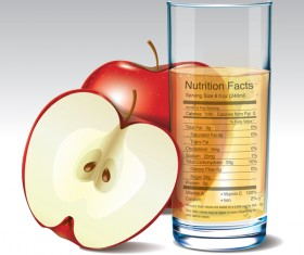 Apple juice nutrition vector