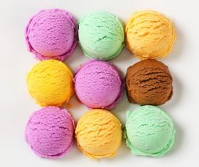 Assorted ice cream in summer Stock Photo 02