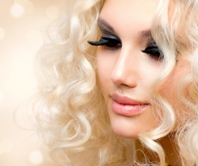 Attractive girl with golden curls Stock Photo 05