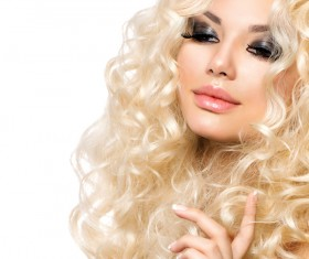 Attractive girl with golden curls Stock Photo 06