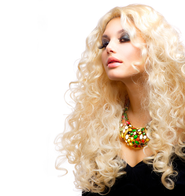 Attractive girl with golden curls Stock Photo 07