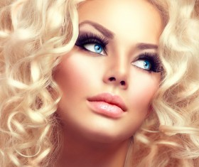Attractive girl with golden curls Stock Photo 08