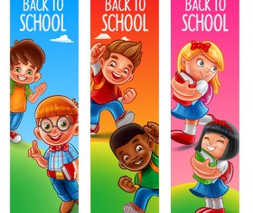 Back to school banners template vector 01