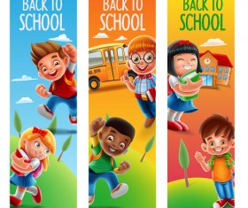 Back to school banners template vector 02