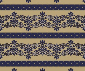 Baroque seamless pattern with ornament vector 01
