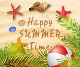 Beach summer background vector