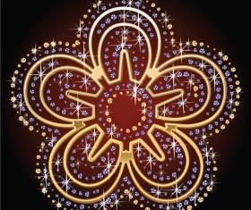 Beautiful diamond floral vector illustration 04