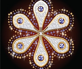 Beautiful diamond floral vector illustration 05