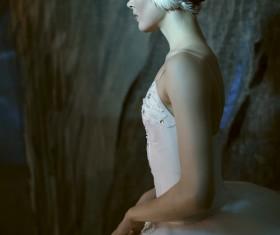 Beautiful female ballet dancer Stock Photo 01