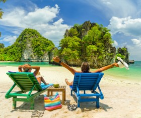 Beautiful resort tropical island Stock Photo 03