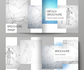 Bifold business brochure cover template vector 05
