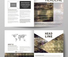 Bifold business brochure cover template vector 08