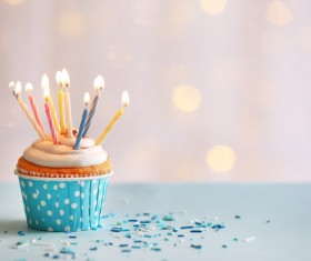 Birthday candle cake Stock Photo 01