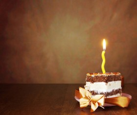 Birthday candle cake Stock Photo 02