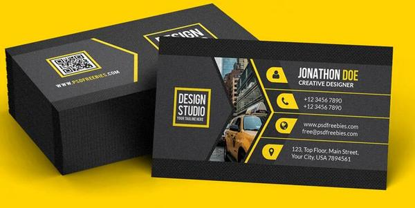 Black business card psd template free download black business card psd template reheart Choice Image