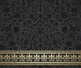 Black decor pattern vector design 01