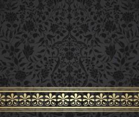 Black decor pattern vector design 01