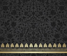 Black decor pattern vector design 02