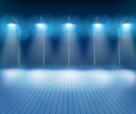 Blue lampy light vector