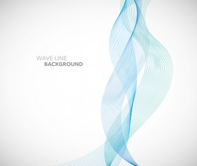 Blue wavy line background illustration vector