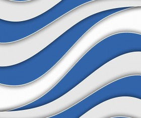 Blue with white wavy background vector