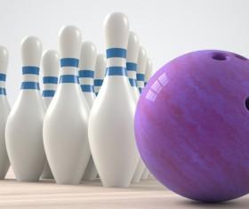 Bowling and Bowling Pin Stock Photo