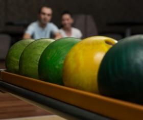 Bowling closeup Stock Photo