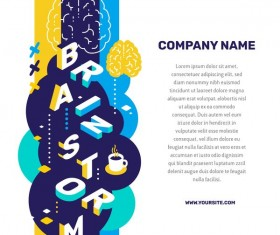 Brainstorm business words illustration vector