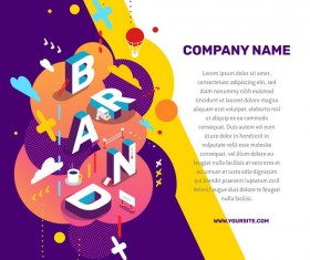 Brand business words illustration vector