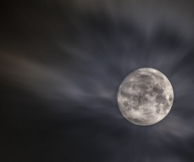 Bright round moon on Stock Photo