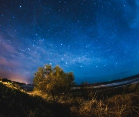 Bright starry sky Stock Photo