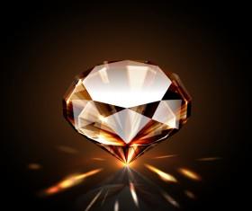 Brown diamond vector