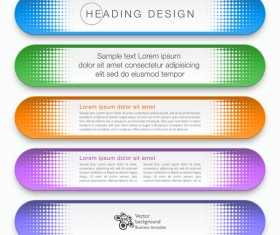 Business banner option infographic vector 06