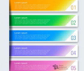 Business banner option infographic vector 08