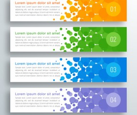 Business banner option infographic vector 14