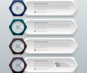 Business banner option infographic vector 15