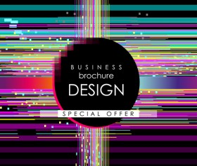 Business brochure template with special offer design vector 02