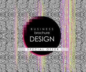 Business brochure template with special offer design vector 03