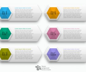 Business text banners template vector